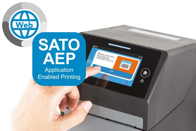 Stand-alone labels printen nog nooit zo gemakkelijk als met SATO Web AEP