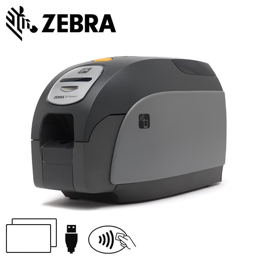 Zebra ZXP Series 3 cardprinter dubbelzijdig contact & MIFARE® encoder USB