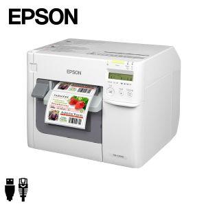 Epson ColorWorks TM-C3500 labelprinter USB/ethernet (C31CD54012CD) met voorbeeld kleurenetiket