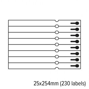 S2b 24001700   diamondlabels 25x254mm papier inkjet sleufetikett