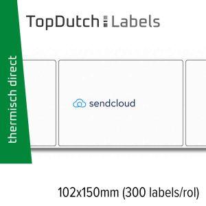 TopDutch Labels 102x150mm Sendcloud verzendetiketten 1 rol á 300 labels