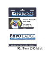 S2b 25350912   expobadge 96x134mm standaard + 2 vouchers voor c3