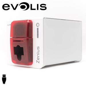 Zn1u0000rs   evolis zenius cardprinter enkelzijdig rood usb