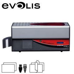 E sec101rbh   evolis securion usb eth cardprinter met laminator