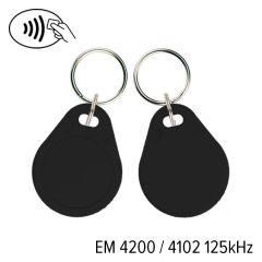 Kf 01 002 em 4200   keyfob kf 01 em 4200 4102 125 khz zwart