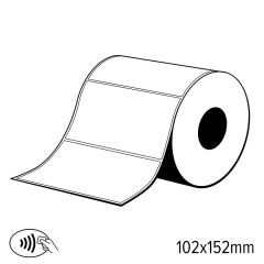 L 101   label rfid uhf 4' x 6' pvc wit glanzend zelfklevend. ali