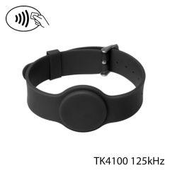 Pbg tk 002   polsband met gesp rfid tk4100 zwart  4uid   23cm