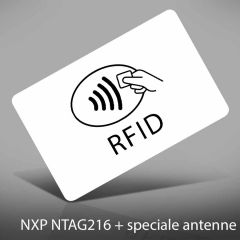 P 100 pvc 0,76 mm wit nxp ntag216 + speciale antenne