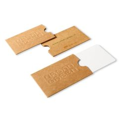 V df003   cardverpakking klein sleeve 9x6 cm 2 pagina's bedrukt