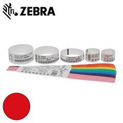 Z 10012713 1k   zebra polsband fun kleefsluiting  25x254mm  rood