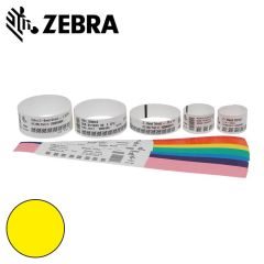 Z 10012713 2k   zebra polsband fun kleefsluiting  25x254mm  geel
