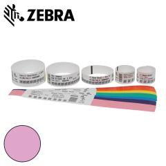 Z 10012713 5k   zebra polsband fun kleefsluiting  25x254mm  roze