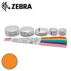 Z 10012713 6k   zebra polsband fun kleefsluiting  25x254mm  oran
