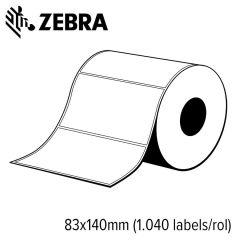 Z 76056   zebra z select 2000t 83x140mm voor mid range en high e