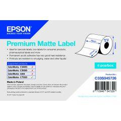 E c33s045726   epson 76x127 mm premium matt die cut labels voor