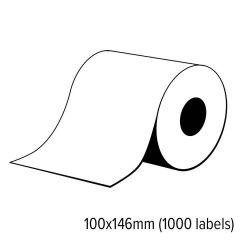 Diamondlabels 100x146mm mat ticket papier inkjet labels voor C6000/C7500 1 rol á 1000 tickets