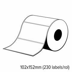 Diamondlabels 102x152mm glanzend papier inkjet Die-Cut labels voor C3500 1 rol á 230 labels
