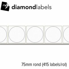 S2b 25350210   diamondlabels 75mm rond mat papier inkjet die cut