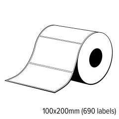 Diamondlabels 100x200mm glanzend papier inkjet Die-cut labels voor C6000/C7500 1 rol á 690 labels