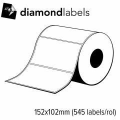 Diamondlabels 152x102mm glanzend PP satijn inkjet Die-cut labels voor C6500 1 rol á 545 labels
