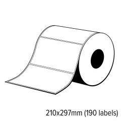 Diamondlabels 210x297mm mat PE kunststof inkjet labels extra sterke lijm voor C6500 1 rol á 190 labels