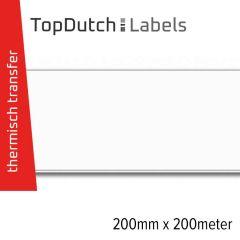 TopDutch Labels 200mm x 200 meter mat kunststof