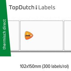 TopDutch Labels 102x150mm PostNL verzendetiketten 1 rol á 300 labels
