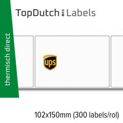 TopDutch Labels 102x150mm UPS verzendetiketten 1 rol á 300 labels