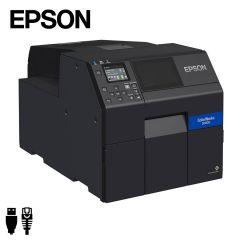Epson Colorworks CW-C6000Ae industriële inkjet labelprinter USB ethernet met automatische papiersnijder (C31CH76102) - zij aanzicht