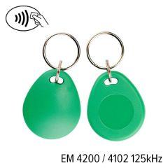 Kf 03 007 em 4200   keyfob kf 03 em 4200&4102 125 khz groen