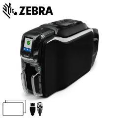 Zc36 000c000em00   zebra zc350 cardprinter dubbelzijdig usbether