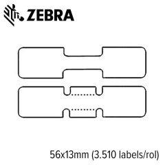 Z 10010065   zebra 8000d jewelry met flaps 56x13mm voor desktop
