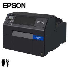 Epson Colorworks CW-C6500Ae industriële inkjet labelprinter USB/ethernet met automatische papiersnijder (C31CH77102) -  zij aanzicht