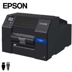 Epson Colorworks CW-C6500Pe industriële inkjet labelprinter USB/ethernet met peeler (C31CH77202) - zij aanzicht