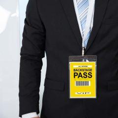 Etiketten en passen bij evenementen