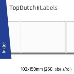 TopDutch Labels 102x150mm glanzend papier