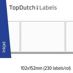 TopDutch Label 102x152mm glanzend papier