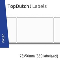 TopDutch Labels 76x50mm mat papier