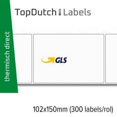 TopDutch Labels 102x150mm GLS verzendetiketten 1 rol á 300 labels