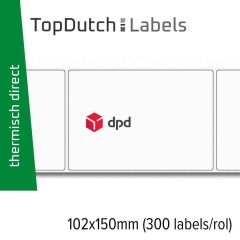 TopDutch Labels 102x150mm DPD verzendetiketten 1 rol á 300 labels