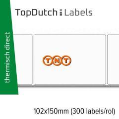 TopDutch Labels 102x150mm TNT verzendetiketten 1 rol á 300 labels