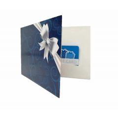 Cardverpakking 13x9 cm 4 pagina's bedrukt met boogstans