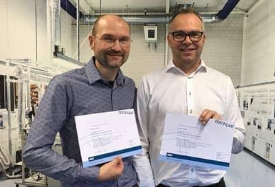 Lars en Harald met het behaald NEN certificaat