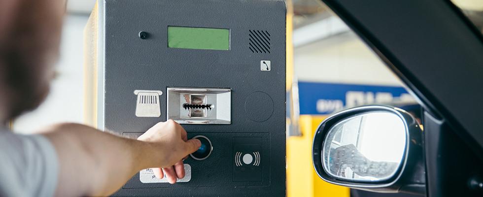 parkeren met RFID