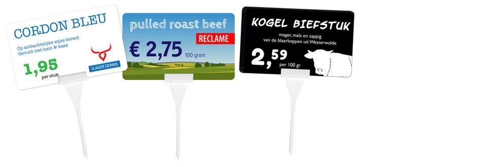 plastic prijskaartjes voor de retail