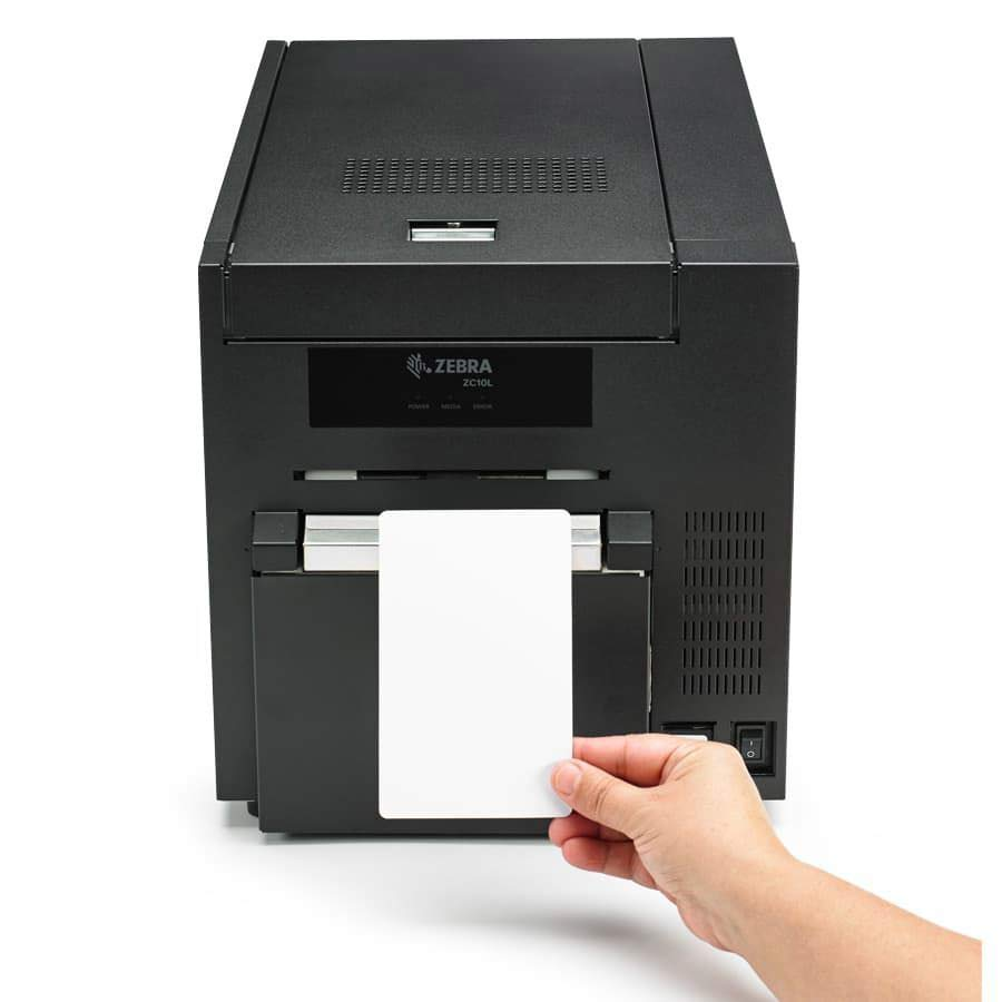 Zebra ZC10L cardprinter